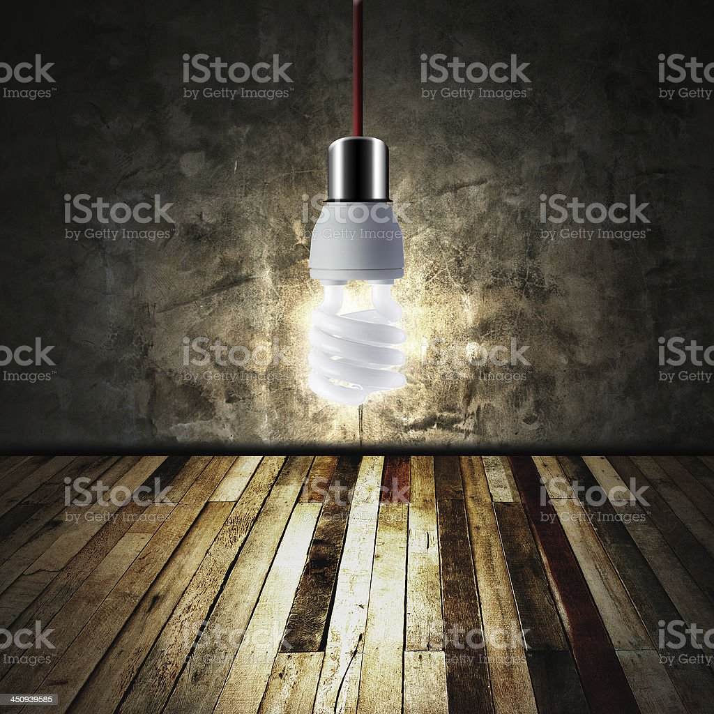 Glowing Light bulb royalty-free stock photo