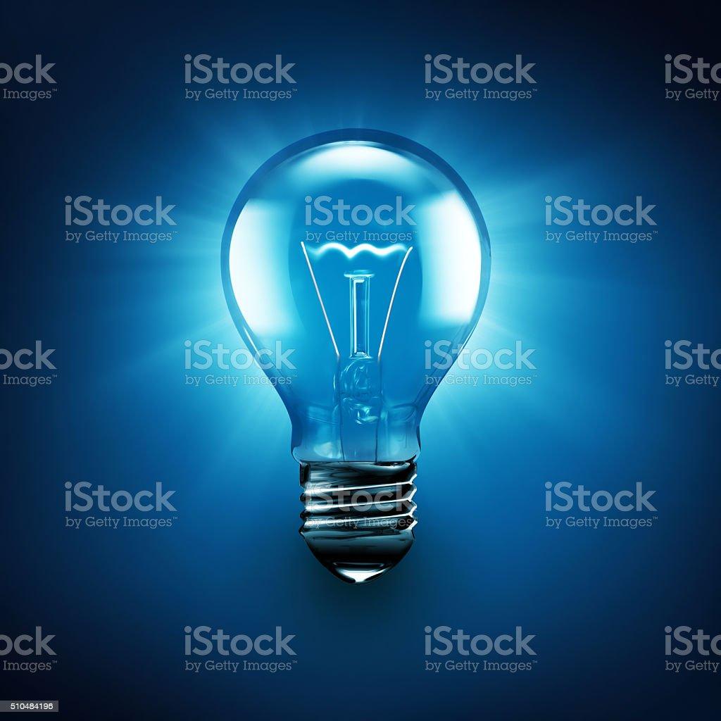 Leuchtende Glühbirne – Foto