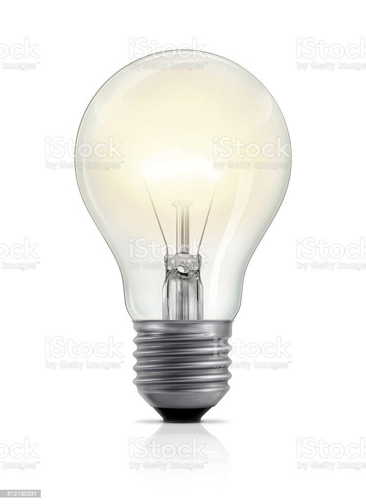 Светящийся Лампа накаливания стоковое фото