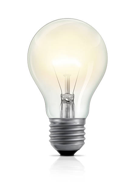 glowing light bulb - light bulb stock pictures, royalty-free photos & images