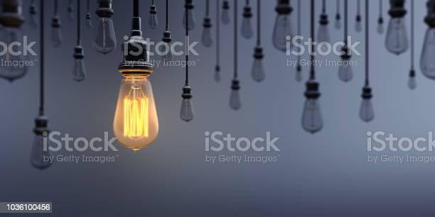 Glowing light bulb standing out from the crowd picture id1036100456?b=1&k=6&m=1036100456&s=612x612&h=uaikx3xx buj8xqtnphl mynulhthh8tko2gavsj6bm=