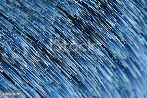 991205326 istock photo Glowing lines with round resource, power and line art, 3d rendering. 1198729153