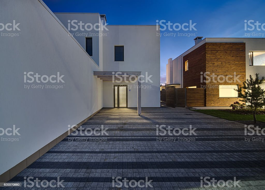 Glowing modern country houses foto de stock royalty-free