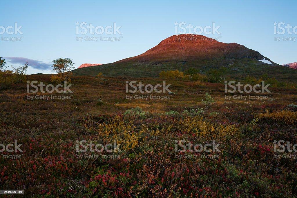 Glowing mountain top royalty-free stock photo