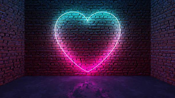 Glowing neon heart shaped like icon on brick wall in dark room picture id1181642408?b=1&k=6&m=1181642408&s=612x612&w=0&h=kmomrqyl jmtiisaormjgubyfl2b6lk9ucj7rmdco5c=
