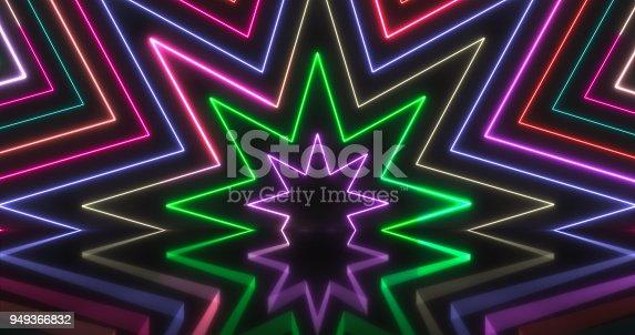 453101991istockphoto Glowing Neon Lights Backgrounds 949366832