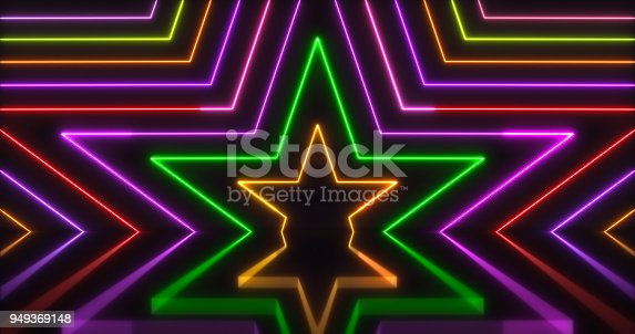 istock Glowing Neon Lights Backgrounds 949369148
