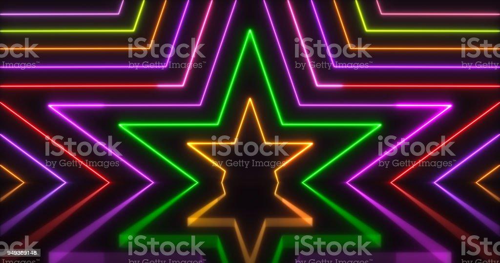 Glowing Neon Lights Backgrounds stock photo