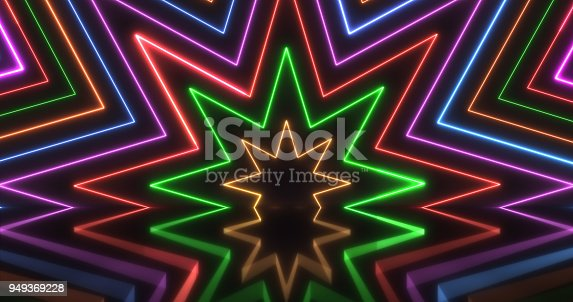 istock Glowing Neon Lights Backgrounds 949369228