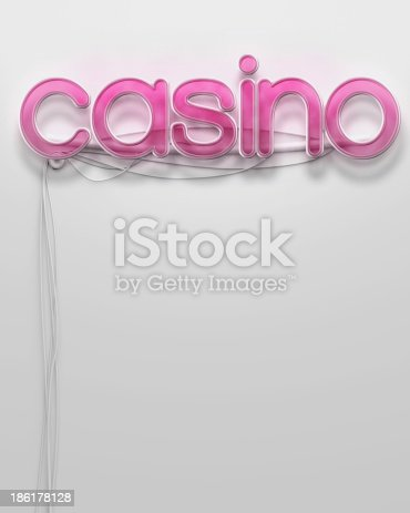1056445350 istock photo Glowing neon signboard with Casino word, copyspace 186178128