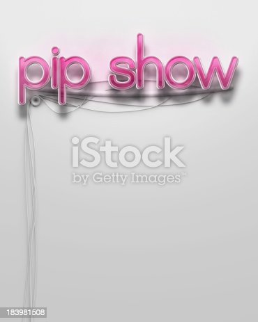 1056445350 istock photo Glowing neon signboard with Pip Show word, copyspace 183981508