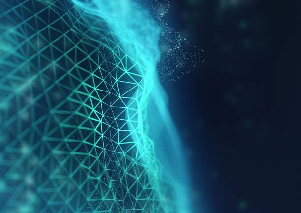 Glühende Netzwerkverbindungen Hintergrund – Foto