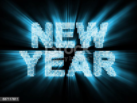 istock Glowing New Year Background 537117611