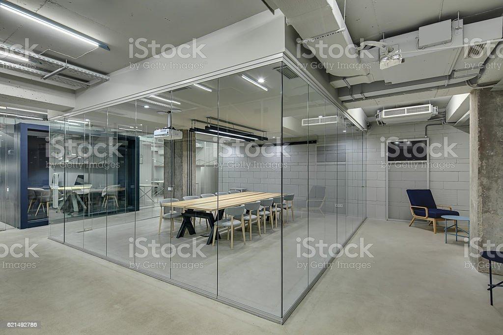 Glowing office in loft style Lizenzfreies stock-foto