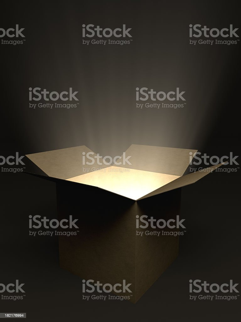 Glowing Open Box stock photo