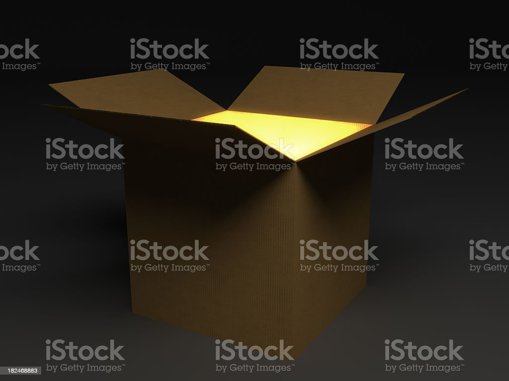 Glowing open box.
