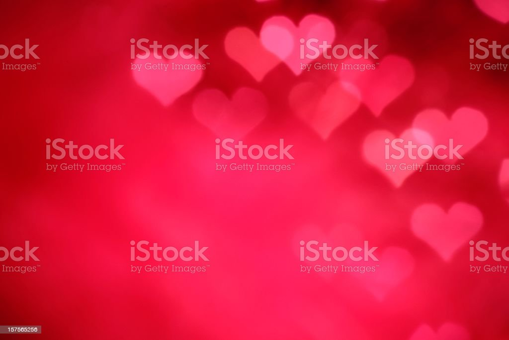 Glowing Pink Hearts - Royalty-free Abstract Stock Photo