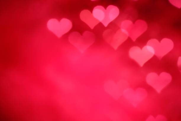 Glowing Pink Hearts stock photo