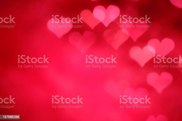 Glowing Pink Hearts Stock Photo - Download Image Now