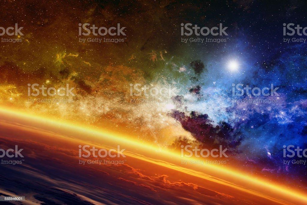 Planeta brillante - foto de stock