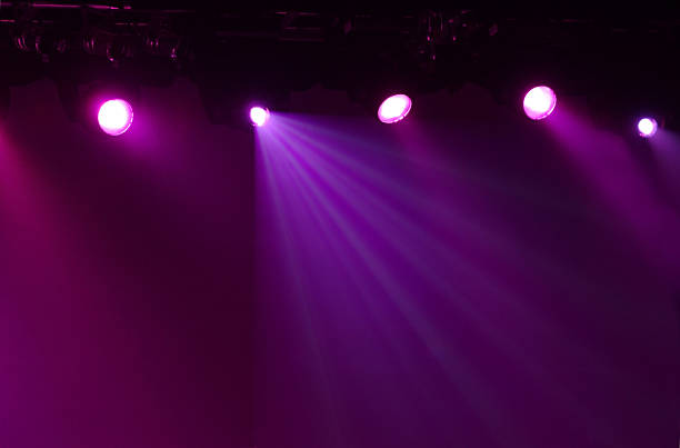 Free Glowing Purple Stage Lights With A Dark Background Stock Photo Pink