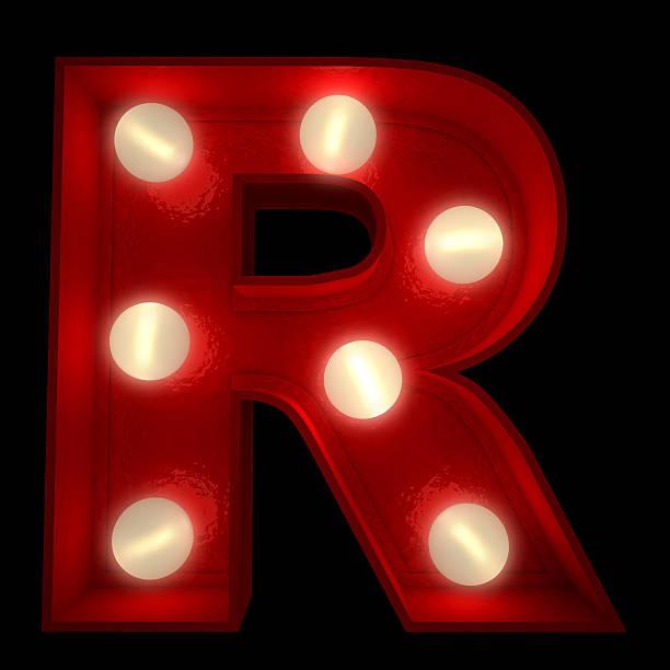 Glowing R stock photo