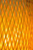 Glowing rattan weave lighting lamp background