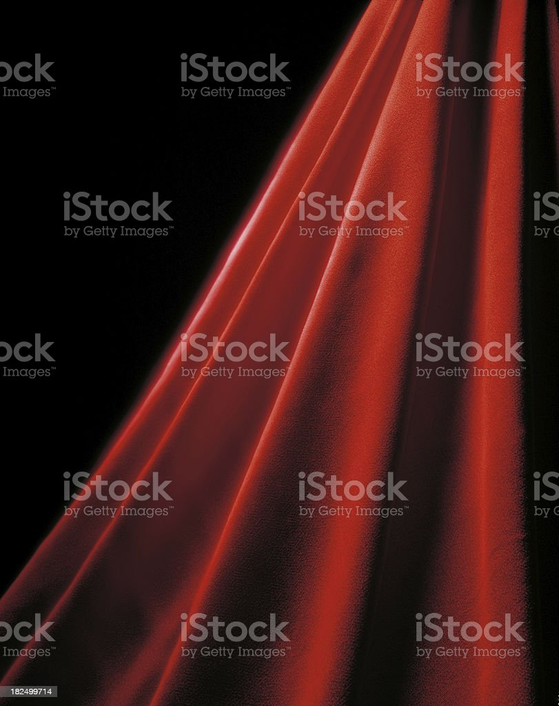 Glowing Red Curtain royalty-free stock photo