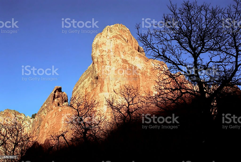 Glowing Red Rocks royalty-free stock photo