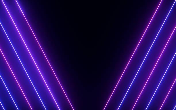 Gloeiende & glanzende kleurrijke neon licht abstract foto