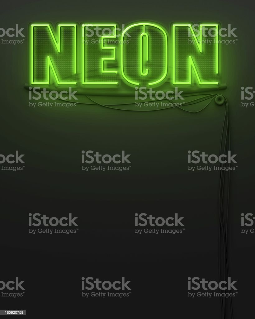 Glowing sign with word Neon, copyspace royalty-free stock photo