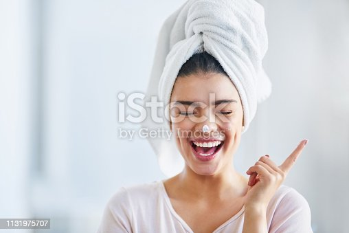 istock Glowing skin automatically makes me happy 1131975707