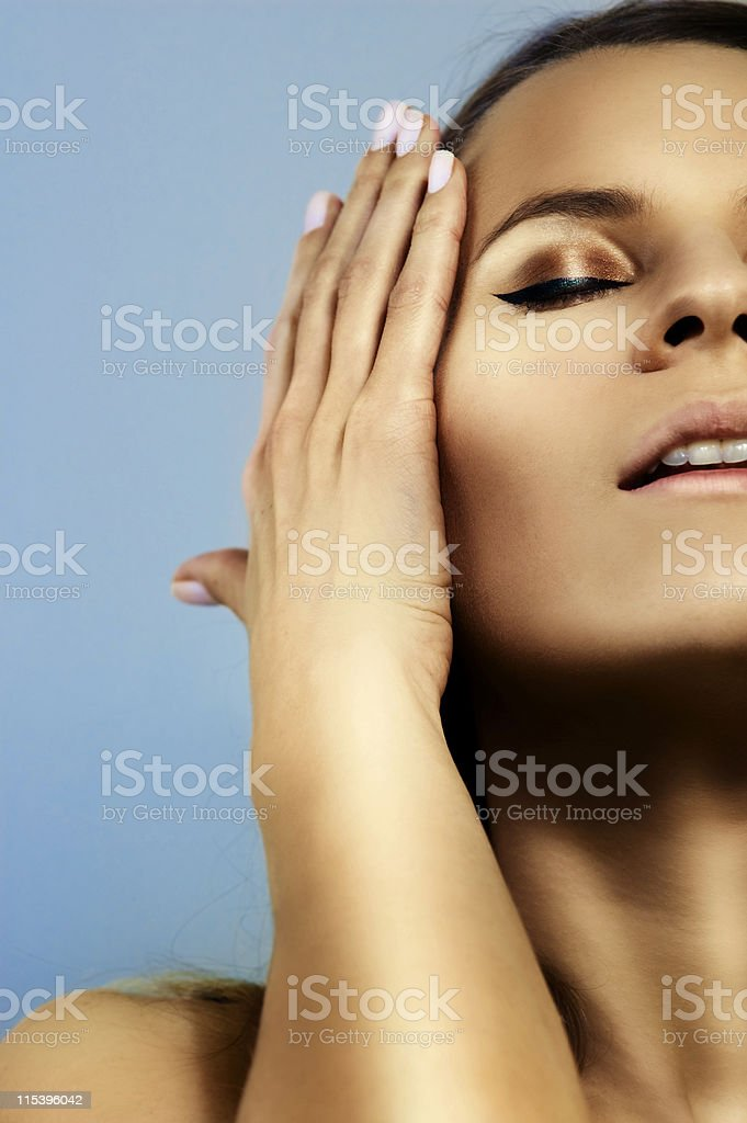 glowing skin royalty-free stock photo