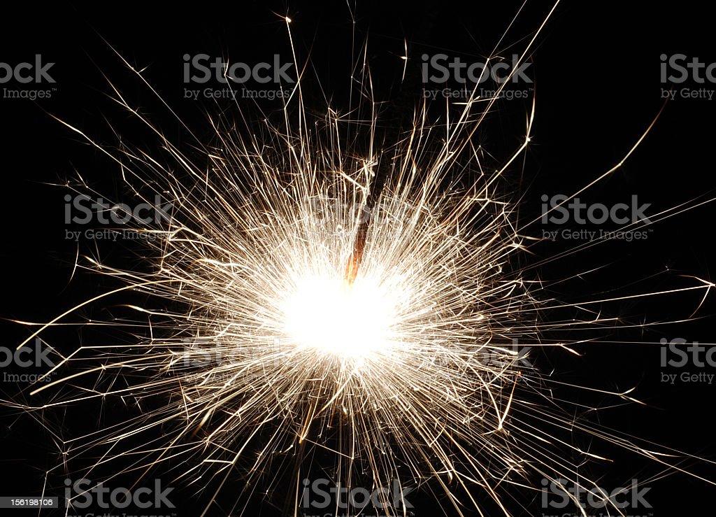 Glowing Sparkler Firework royalty-free stock photo