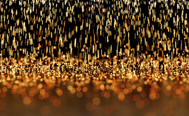 Glowing Sparks Abstract Background stock photo