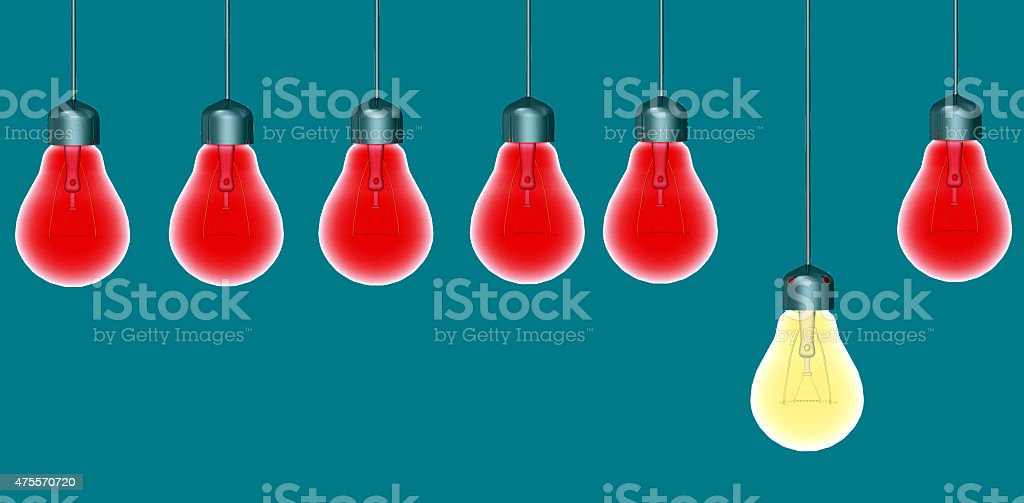Glowing Special Light Bulbs stock photo