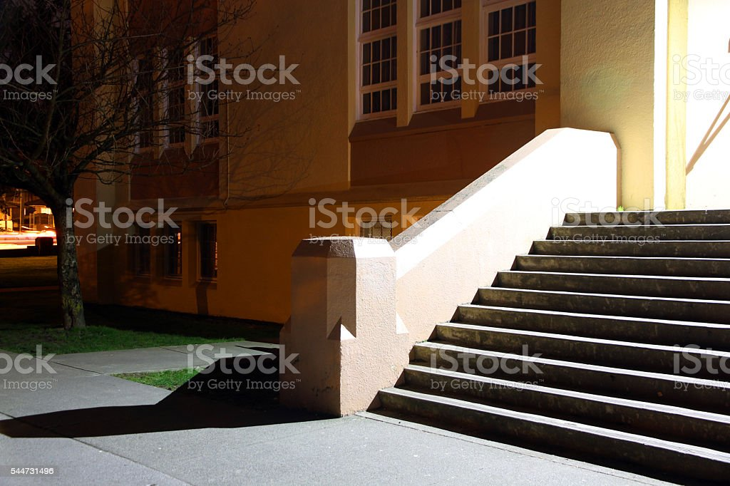 Glowing Staircase stock photo