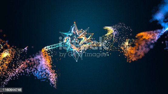899255516 istock photo Glowing star shaped object emitting particles 1160644746