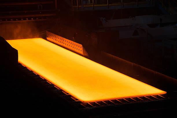 Glowing Steel in a Steelwork – Foto