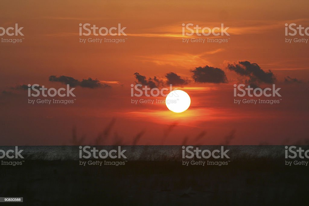 Glowing Sun royalty-free stock photo