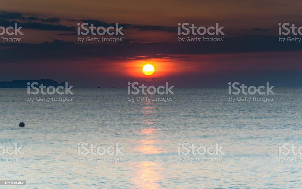 Glowing Sun Rising stock photo