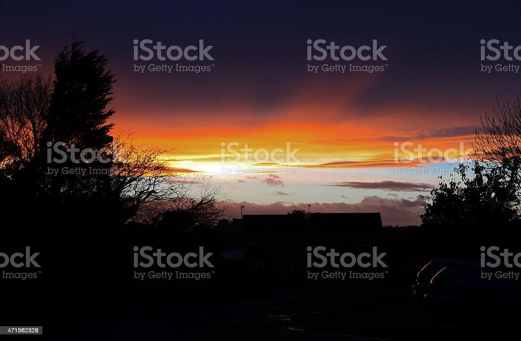 Glowing Urban Skies stock photo