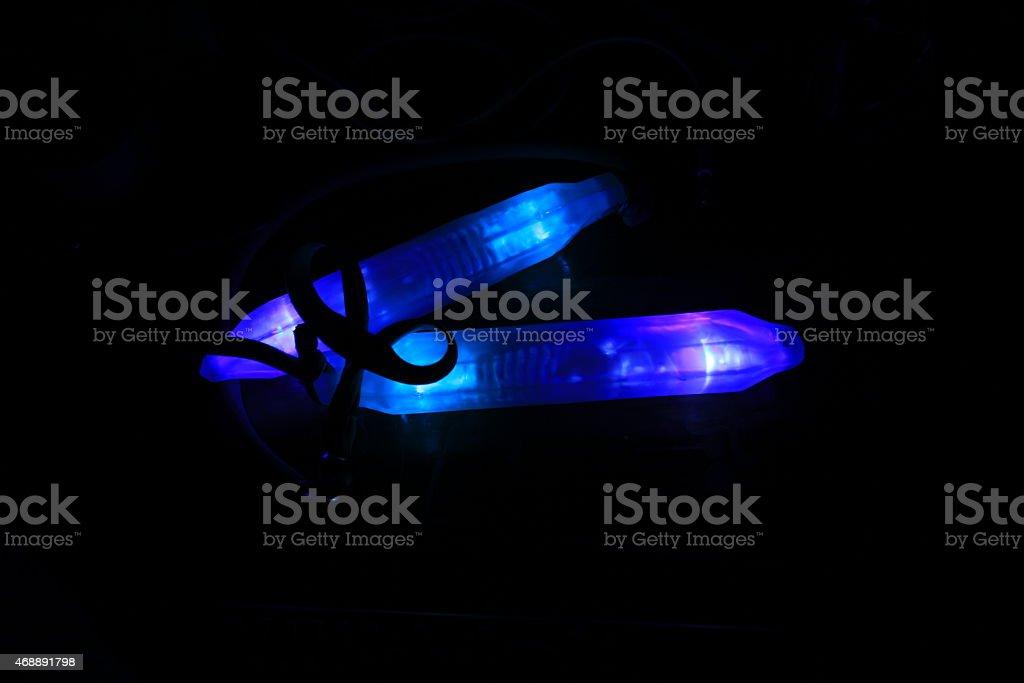 glowsticks ready stock photo