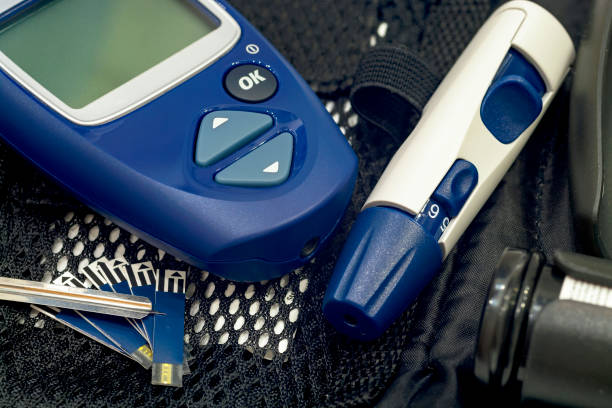 Glucometer and other instruments. Glucometer and other instruments for measuring glucose levels. lancet arch stock pictures, royalty-free photos & images