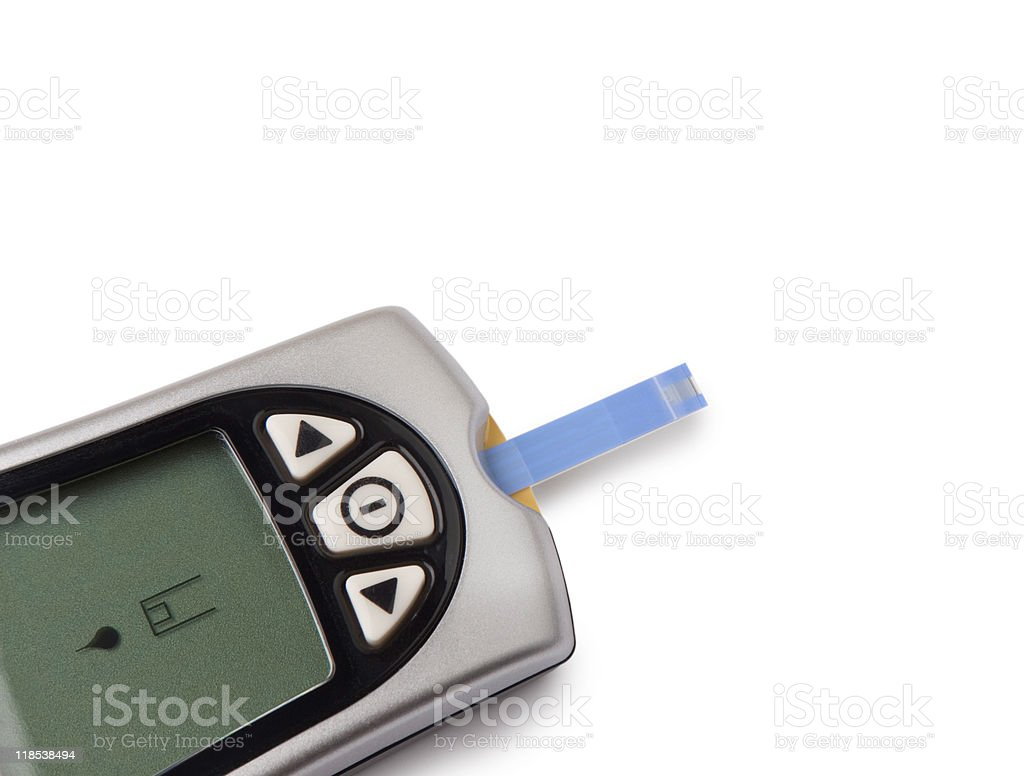 Glucometer isolated royalty-free stock photo