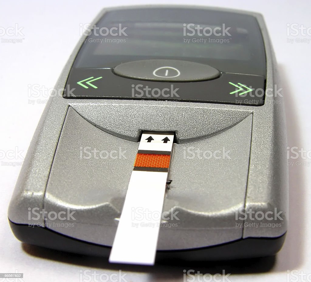 Glucometer royalty-free stock photo
