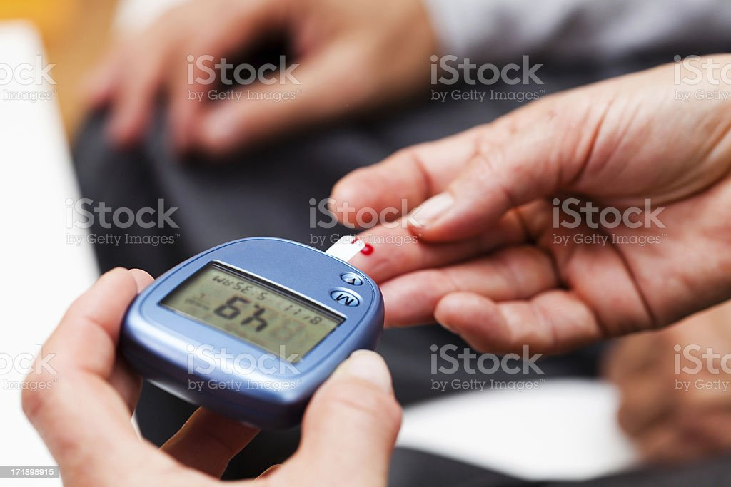 Glucose Blood Test royalty-free stock photo