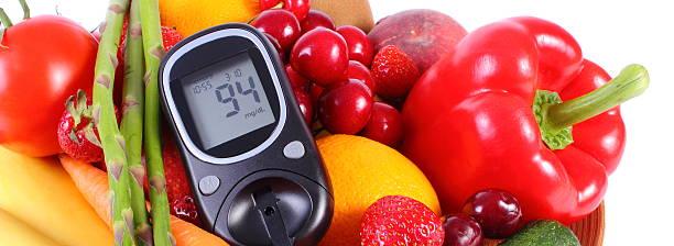 Glucose großen mit Obst und Gemüse, gesunden Ernährung, diabetes – Foto