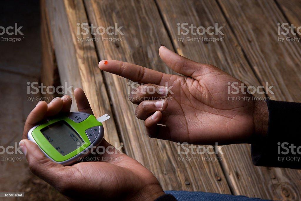 Glucose Monitor Blood Test royalty-free stock photo