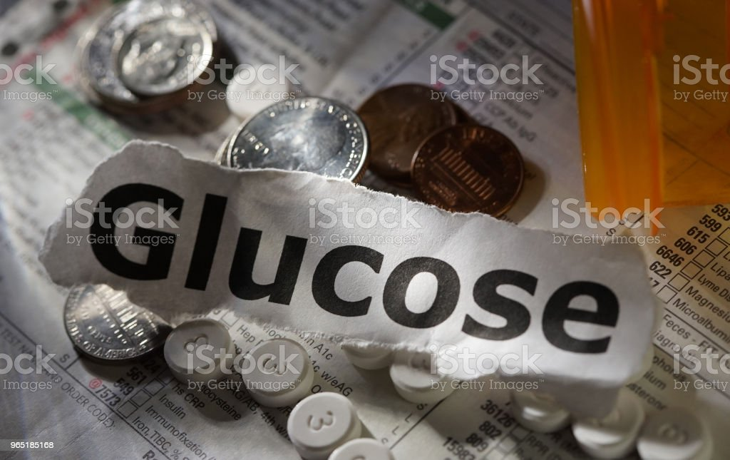 glucose word royalty-free stock photo